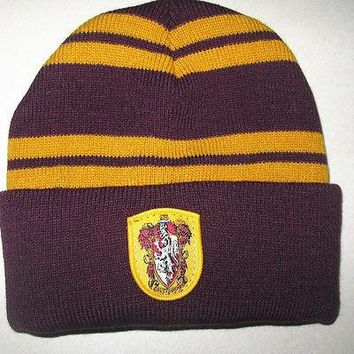Women Knitted Ski Men Caps christmas gift cosplay Harry Potter Badge hats winter Beanies Hat Warm Knit Hats