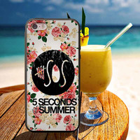 5SOS Floral for iphone 4/4s, 5, 5s, 5c, Samsung galaxy s3, s4, s5 case.