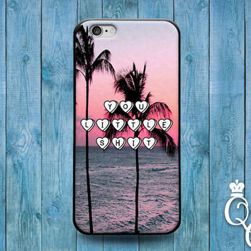 iPhone 4 4s 5 5s 5c 6 6s plus + iPod Touch 4th 5th 6th Generation Funny Phone Cover Cool Fun Quote Tropical Pink Sunset Cute Palm Tree Case