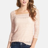 Women's Lucky Brand Square Neck Lace Top,