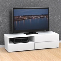 White Blvd 60'' TV Stand - 1 Flip Door, 2 Drawers - Nexera 223103