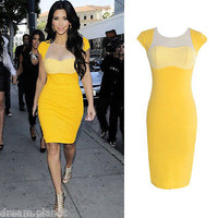 UK Fashion New Womens Celebrity Style Bodycon Pencil Evening Party Dress-A05