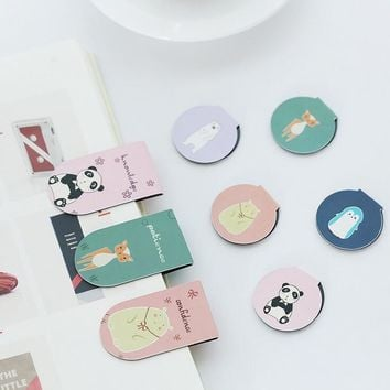 2 pcs/pack We Are Animal Family Magnet Bookmark Paper Clip School Office Supply Escolar Papelaria Gift Stationery