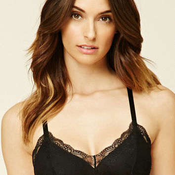 Webbed-Back Lace Bralette
