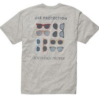 Southern Proper Mens Use Protection T-Shirt in Gray