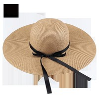 FURTALK Summer Straw Hats for Women Fashion Design Women Beach Sun Hat with Foldable Brimmed