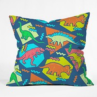Chobopop 90s Dinosaur Pattern Throw Pillow