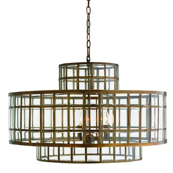 Brass Cage Alexandria Pendant Light by Global Views