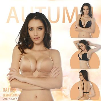 Invisible Bra Push Up Bra A B C D CUP