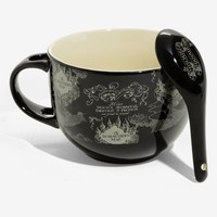 Licensed cool Harry Potter Marauders Map 24 oz. Ceramic Soup Mug With Spoon Set Licensed NIB