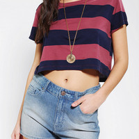 Truly Madly Deeply Rugby Stripe Cropped Tee
