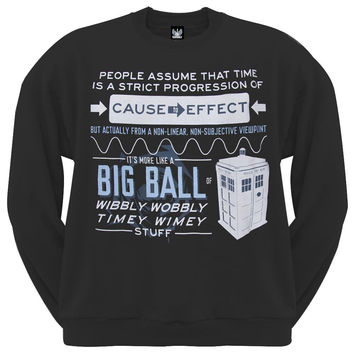 Doctor Who - Wibbly Wobbly Crew Neck Sweatshirt