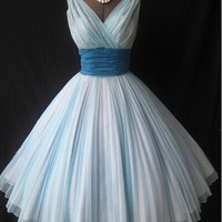 Vintage Short Light Sky Blue Homecoming Dresses