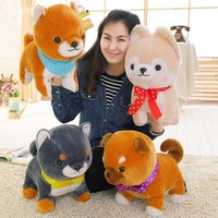 40cm Amuse Dog Japanese Anime Toys 4 Brothers Shiba Inu Loyal Pet Soft Stuffed Plush Animal Toy For Baby Girls Kids Lover Gift
