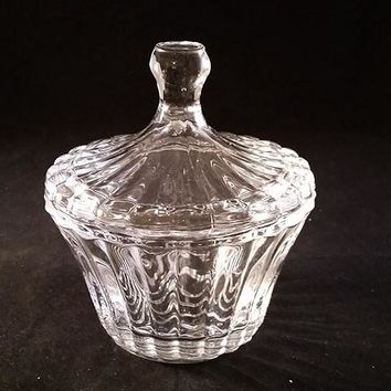 Ribbed Candy Dish with Lid