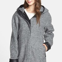 Women's Vince Camuto Hooded Boucle Boyfriend Jacket