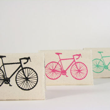 Passport Cover Canvas Bicycle by LolaJeans on Etsy