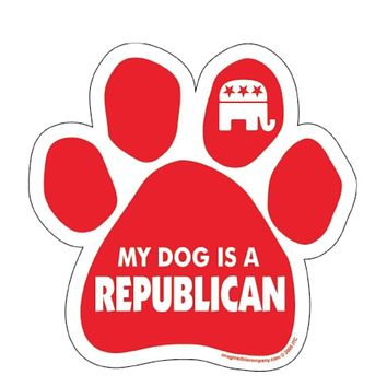 My Dog Is A Republican Paw Print Magnet
