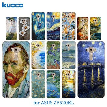 Soft Silicone Case For Asus ZenFone 3 ZE520KL Van Gogh Pattern Cover for KL / ZE 520 KL Phone Coque For Zenfone 3 ZE 520