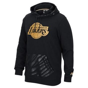 Los Angeles Lakers adidas Precious Metals Pullover Hoodie ¨C Black