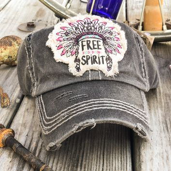 """FREE SPIRIT"" HEADDRESS Patchwork Vintage Women's Hat"