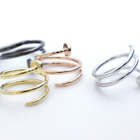 Cartier inspired Twisted Nail ring in 4 colors- Adjustable Ring