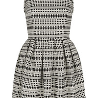 Stripe Jaquard Skater Dress - Fit & Flare Dresses - Dresses - Clothing - Topshop