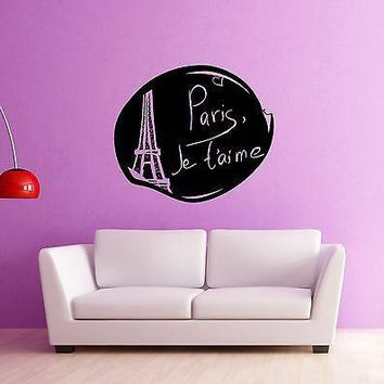 Wall Stickers Vinyl Decal Paris France Excellent Room Home Decor Unique Gift (ig932)