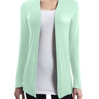 LE3NO Womens Sheer Long Sleeve Open Cardigan