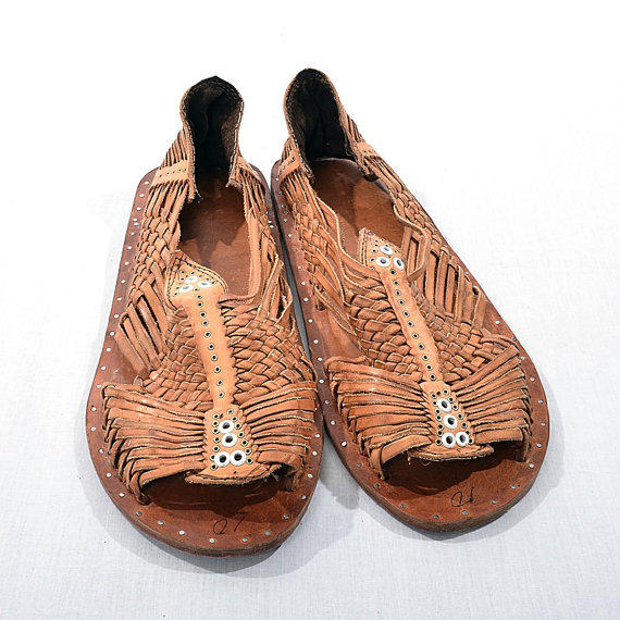 Vintage 70s Leather Huaraches Sandals From Ckshoppervintage On
