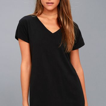 Clear Day Black T-Shirt Dress