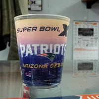2015 NFL Super Bowl Champion New England Patriots Sublimated Shot Glass