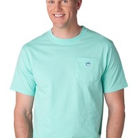 Embroidered Pocket Tee Shirt in Offshore Green by Southern Tide