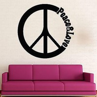Wall Stickers Vinyl Decal Peace Love Hippie Pacifism Decor Unique Gift (ig1537)