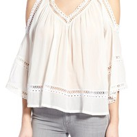 Rebecca Minkoff 'Deneuve' Cold Shoulder Blouse | Nordstrom