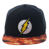 DC The Flash Embr. Patch Logo Sublimated Flat Brim Costume Baseball Cap Hat