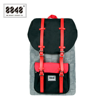 8848 Backpack Waterproof 20LCollege Backpack Fashion Patch Work Unisex Travel Bag Knapsack Backpacks Women/Men Military S15005-5
