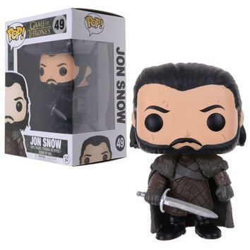 Funko Pop Game of Thrones Daenerys Dragon Ride Jon Snow Wolf Vinyl Figure Gift