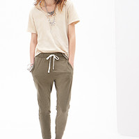 FOREVER 21 Classic Knit Drawstring Joggers