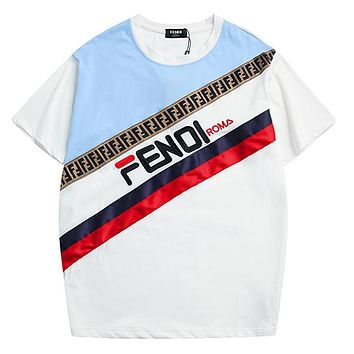 FENDI Woman Men Fashion Tunic Shirt Top Blouse