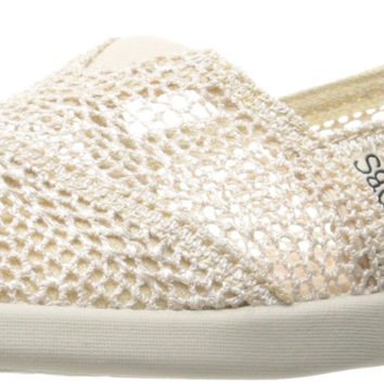 BOBS from Skechers Women's Bobs World Slip-On Flat Natural 8 B(M) US '
