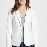 Women's Vince Camuto Stretch Cotton One-Button Blazer,