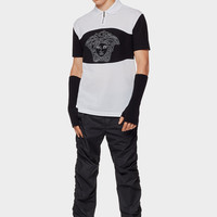 Versace Cotton Polo with Intarsia Medusa for Men | US Online Store