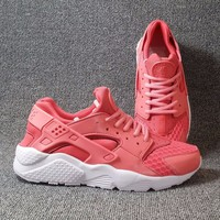Best Online Sale Nike Air Huarache 1 Rainbow Ultra Breathe Women Red White Running Sport Casual Shoes Sneakers - 902
