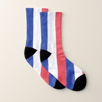 All Over Print Socks with Flag of France