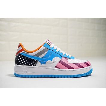 Parra x Nike Custom Air Force 1 Low White Muti Color AT3058-100 dee0701078aa