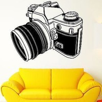 Wall Stickers Vinyl Decal Camera Photographer Photo Art Photography Unique Gift (ig1807)