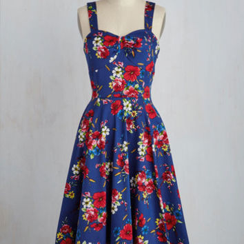 Pinup Sleeveless Fit & Flare Only Time Will Twirl Dress