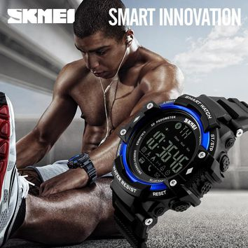SKMEI Bluetoot Smart Watch Men Sports Wristband Watches Reminder Pedometer Calories Waterproof Watch For Apple IOS Android Clock