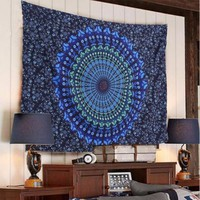 Hippie Indian Mandala Tapestry Wall Hanging Boho Bohemian Bedspread Dorm Decor